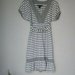 Inc dress grey and white